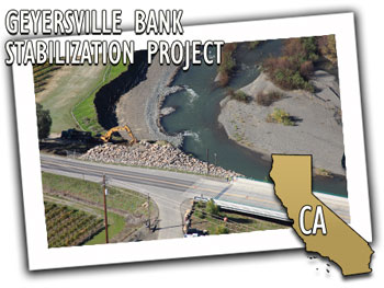 California Department of Transportation Geyersville Bank Stabilization Project