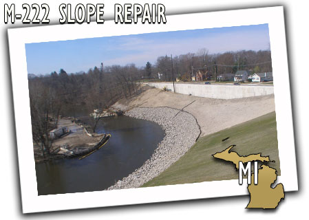 Michigan Department of Transportation M-222 Slope Repair