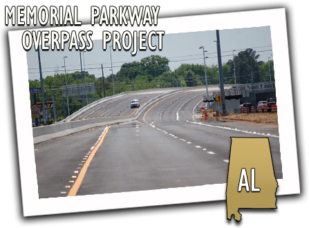 Alabama Department of Transportation Memorial Parkway Overpass Project
