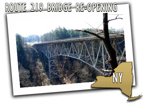 New York State Department of Transportation Route 219 Re-Opening